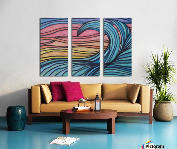 Twilight Wave  Split Canvas print