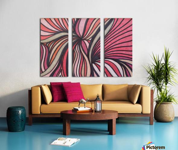 Scarlet Bluff  Split Canvas print