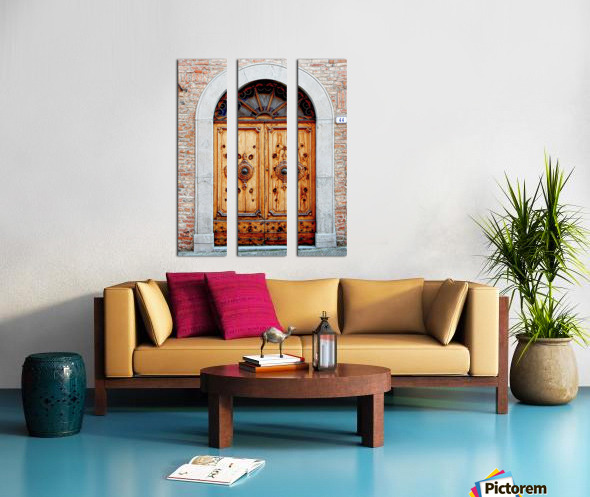 Ornate Wooden Door Citta della Pieve 1 Split Canvas print