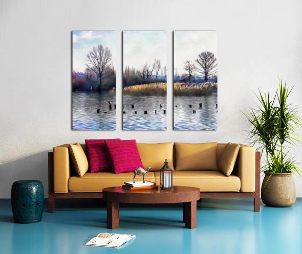 Lago di Chiusi Tuscany Split Canvas print