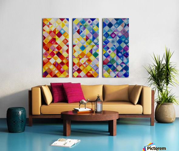 Day and Night Split Canvas print