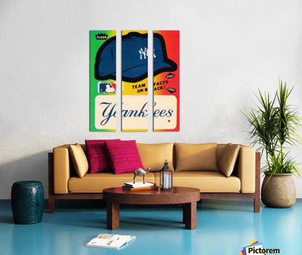 1982 fleer sticker new york yankees hat Split Canvas print