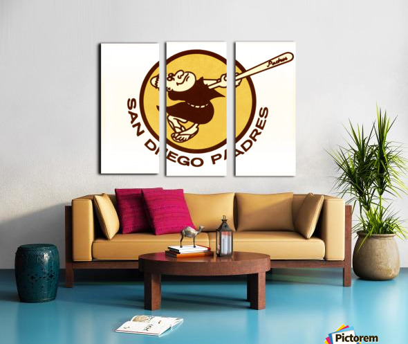 1980 san diego padres logo wall art Split Canvas print