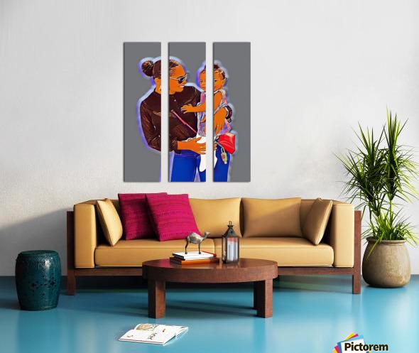 TLC Split Canvas print