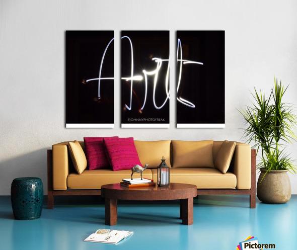 Art light calligraphy Split Canvas print
