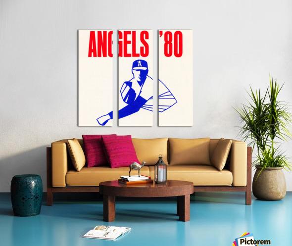 1980 california angels baseball pitcher art Split Canvas print
