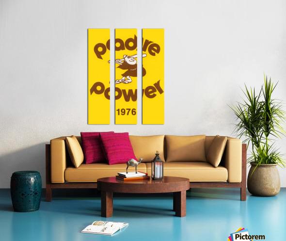 1976 san diego padres padre power poster 1 Split Canvas print