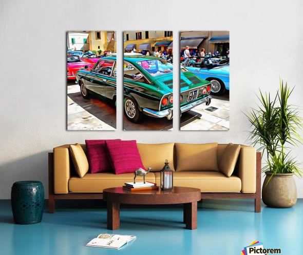 Fiat 850 Sport Coupe Split Canvas print