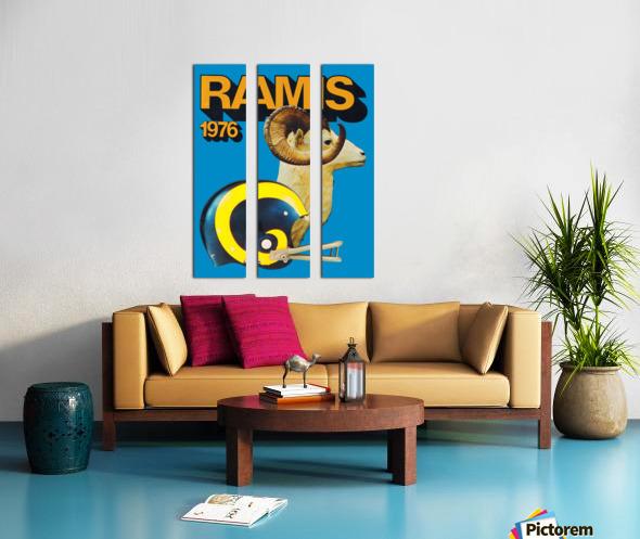 1976 rams vintage nfl poster Split Canvas print