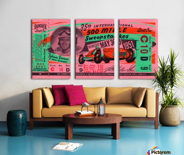 1951 indianapolis 500 mile sweepstakes auto race Split Canvas print