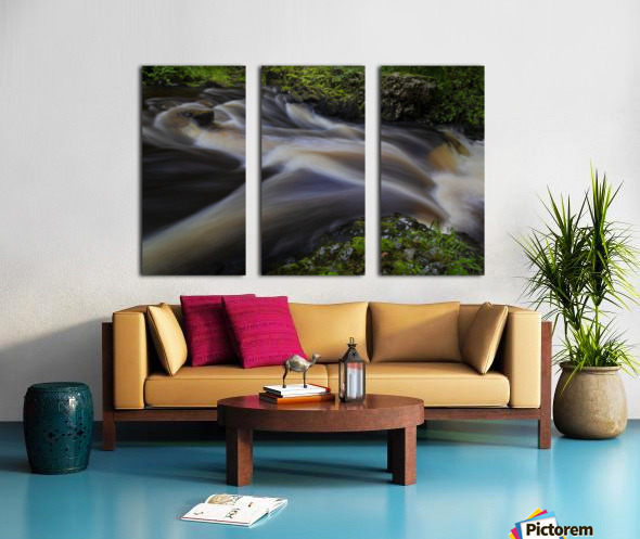 Waterfall Country at Pontneddfechan Split Canvas print