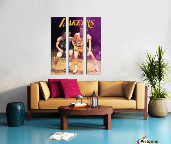 1969 los angeles la lakers jerry west poster Split Canvas print