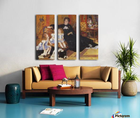 Madame Charpentier and her children Split Canvas print