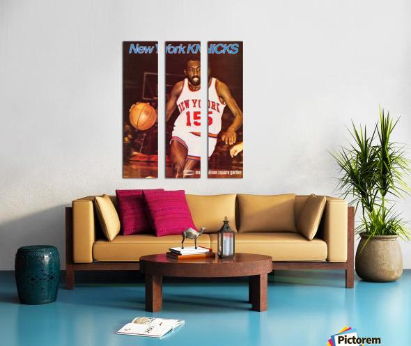 1977 new york knicks basketball poster Split Canvas print