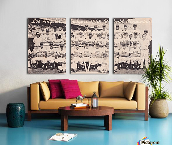 1963 la dodgers world champions team photo Split Canvas print