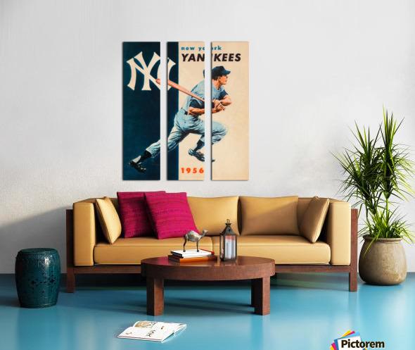 1956 new york yankees vintage baseball art Split Canvas print