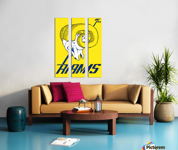 vintage los angeles rams art Split Canvas print