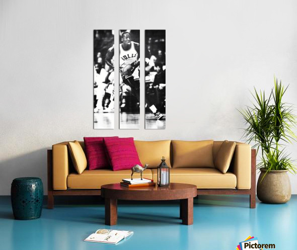 1985 Michael Jordan Black and White Poster Split Canvas print