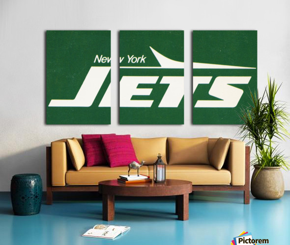 1981 new york jets reproduction artwork Split Canvas print