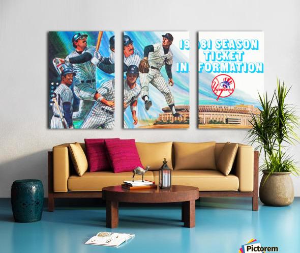 1981 new york yankees baseball season ticket information art Split Canvas print