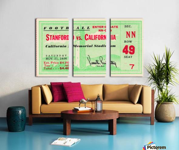 1936 Cal vs. Stanford Split Canvas print