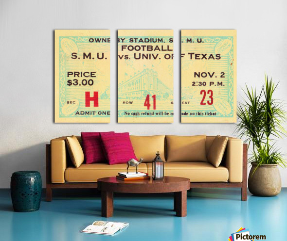 1935 SMU National Champions vs. Texas Split Canvas print
