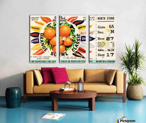 1957_College_Football_Orange Bowl_Clemson vs. Colorado_Orange Bowl Stadium Split Canvas print