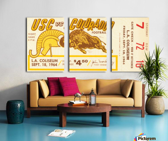 1964 USC vs. Colorado Split Canvas print