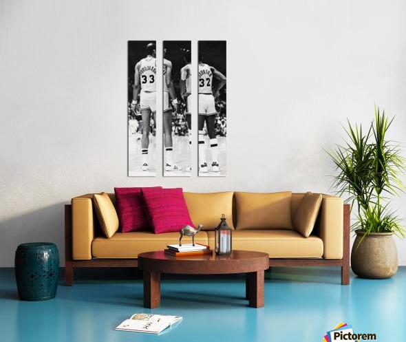 1984 Magic Johnson & Kareem Poster Split Canvas print