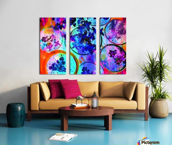 Psychedelic Herbs Split Canvas print
