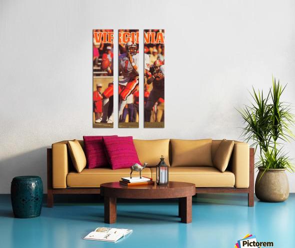 1986 virginia cavaliers football poster Split Canvas print
