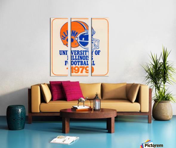 1979 illinois football helmet art Split Canvas print