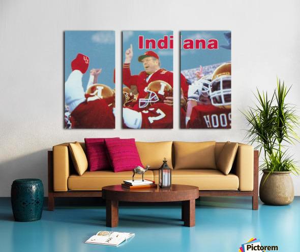 1987 indiana hoosiers iu football wall art Split Canvas print