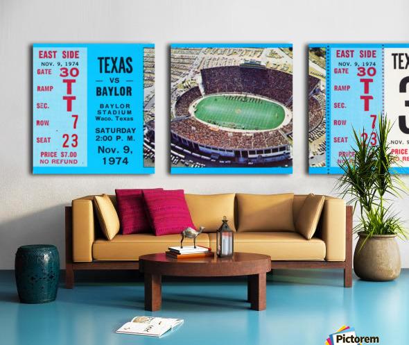 1974 baylor bears texas college football ticket art Split Canvas print
