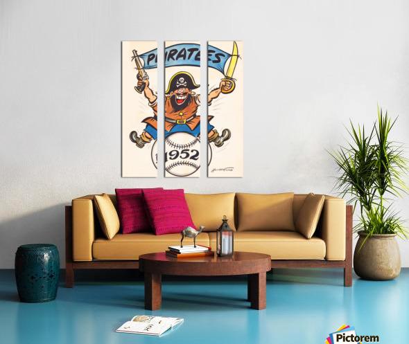 1952 pittsburgh pirates artist cy hungerford Split Canvas print