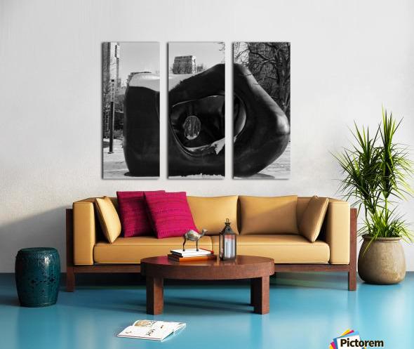 Two Large Forms at Grange Park 2 Split Canvas print
