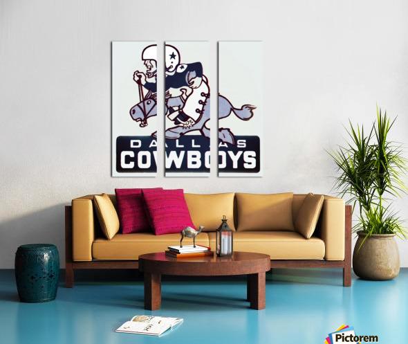 1960s dallas cowboys art Split Canvas print