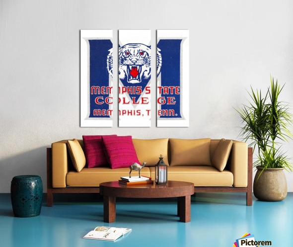 1950s Memphis State College Tigers Split Canvas print
