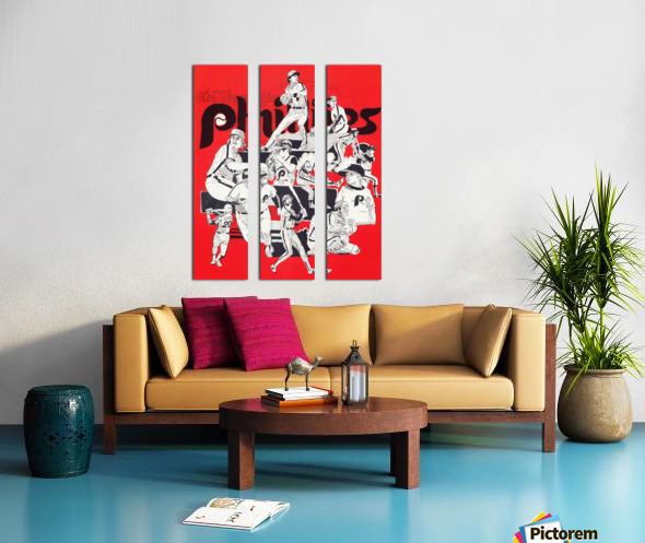 1977 philadelphia phillies champions retro baseball poster Split Canvas print
