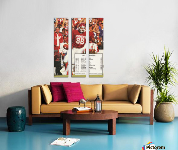 1987 oklahoma sooners football schedule poster Split Canvas print