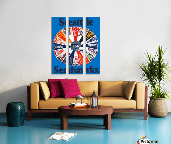 1976 seattle seahawks art Split Canvas print