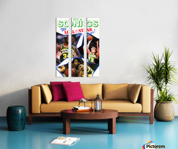 1987 seattle supersonics nba all star game poster Split Canvas print