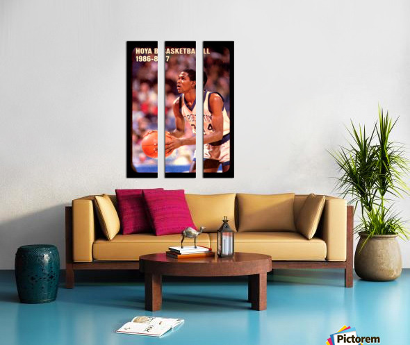1986 georgetown hoyas basketball reggie williams poster Split Canvas print