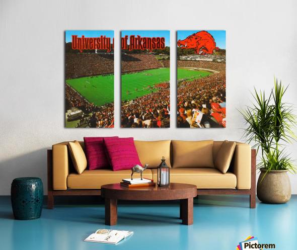 retro arkansas razorbacks football fayetteville razorback stadium photo Split Canvas print
