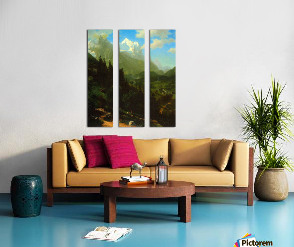 Matterhorn by Bierstadt Split Canvas print