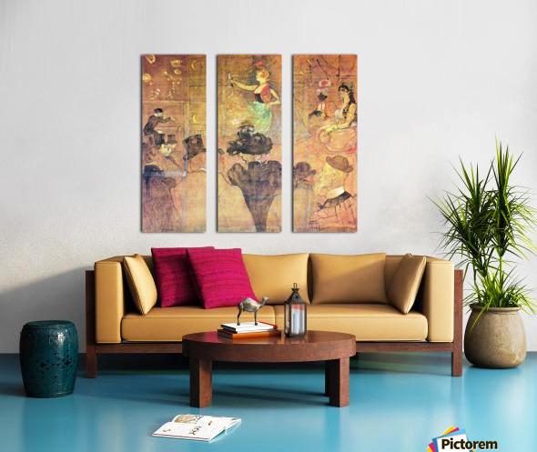 Mauri Dance by Toulouse-Lautrec Split Canvas print