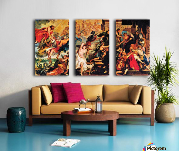 Medici s and the Apotheosis of Henry IV by Rubens Split Canvas print