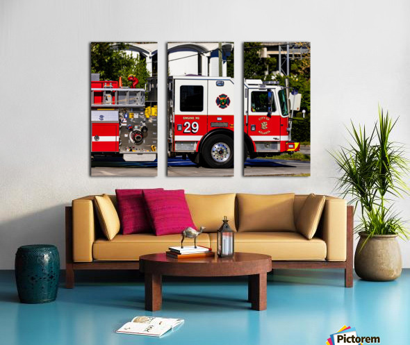 City of Atlanta Fire Engine No 29 6665 Split Canvas print