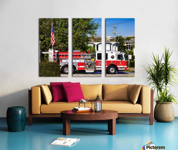 City of Atlanta Fire Engine No 29 6648 Split Canvas print