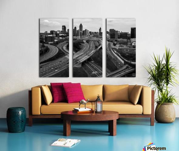 Interstate 75 85 Aerial View   Atlanta GA 0225 Split Canvas print